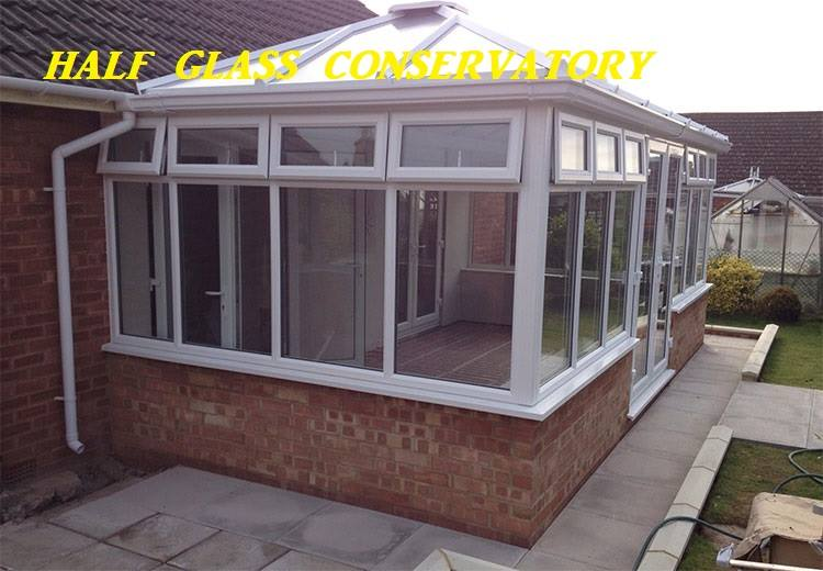 Conservatory designs Southall Windows London half glass